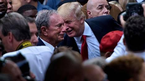 Syksyllä 2016 Michael Bloomberg (vasemmalla) tapasi silloisen presidenttiehdokkaan Donald Trumpin WTC-iskujen muistotilaisuudessa.