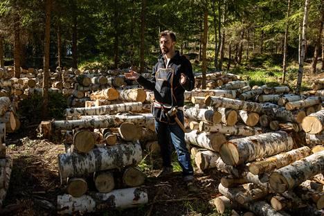Pölkkyviljelmässä kasvatetaan muun muassa siiliorakasta. Metsäpalvelujohtaja Henri Lokki pitää sieniviljelyä ekologisena tapana monipuolistaa metsätaloutta.