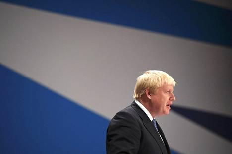 Britannian ulkoministeri Boris Johnson puhui konservatiivipuolueen kokouksessa lokakuun alussa.