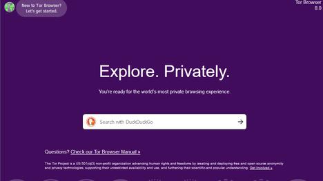 Tor-verkon etusivu.