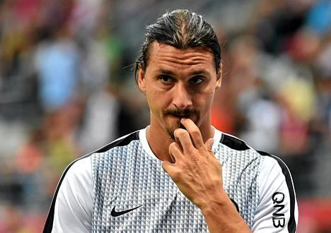 Zlatan Ibrahimovic mietteliäänä.