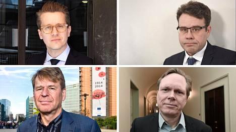Sakari Melander (vas. ylh.), Juha Lavapuro, Martin Scheinin (vas. alh.) ja Tuomas Ojanen.