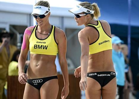 Emilia ja Erika Nyström olivat yllättää ykkössijoitetun brasilialaisvastustajansa.
