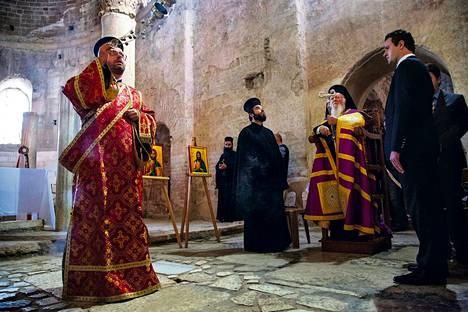 Konstantinopolin patriarkka Bartolomeos I (oik.) osallistui iltamessuun Pyhän Nikolauksen kirkossa Demren kaupungissa.