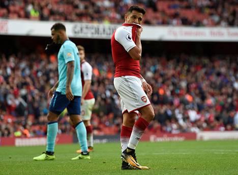 Alexis Sanchez ei onnistunut maalinteossa Bournemouthia vastaan.