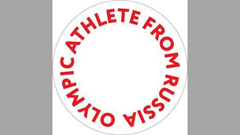 Logo, jota olympialipun alla kilpailevien venäläisurheilijoiden tulee käyttää asuissaan.