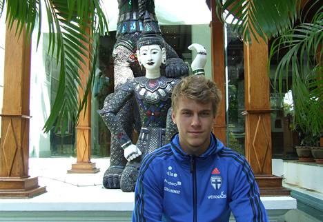 HJK:n keskikenttäpelaaja Rasmus Schüller pukee tänään ensimmäistä kertaa päälleen A-maajoukkuepaidan.
