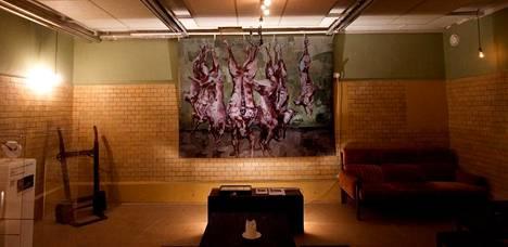 Topi Ruotsalaisen teoksessa Still Life sianruhot alkoivat hengittää lisätyn todellisuuden avulla.