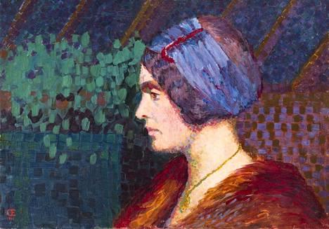 Olga Gummerus-Ehrström, Omakuva, 1911, öljyväri kankaalle, Gösta Serlachiuksen taidesäätiö.