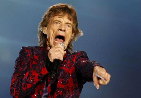 Mick Jagger esiintyi Meksikossa keväällä 2016.