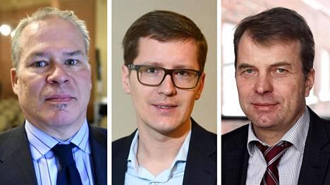 Markku Stenborg (vas.), Ilkka Kaukoranta ja Roope Uusitalo.