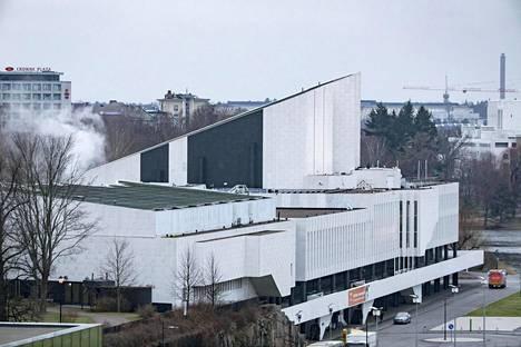 Finlandia-talosta nousi maanantaina aamupäivällä taivaalle vaalea höyrypilvi.