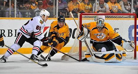 Pekka Rinne on ollut ehdolla NHL:n parhaalle maalivahdille jaettavan Vezina-trophyn saajaksi.