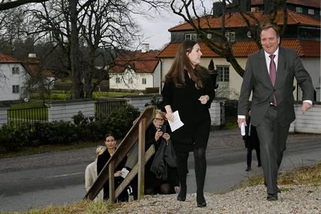 Pääministeri Sanna Marin (sd) tapasi Ruotsin pääministerin Stefan Löfvenin vierailullaan Ruotsissa keskiviikkona.
