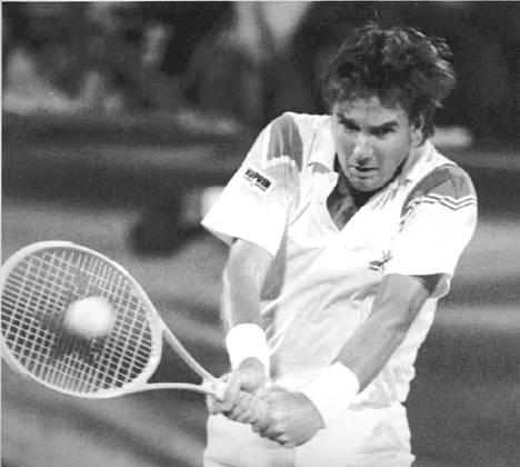 Jimmy Connors US Open -ottelussa syyskuussa 1991.