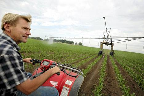 Dale Tuholski tarkasti kuivuudesta kärsivää maissipeltoaan kesäkuussa Indianassa.