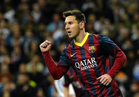 Lionel Messi teki viime sunnuntaina hattutempun Real Madridia vastaan.