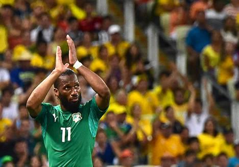 Norsunluurannikon kapteeni Dider Drogba kiitti yleisö Brasilian MM-kisoissa.