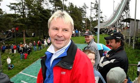 Matti Nykänen vieraili vuonna 2008 Helsingin Herttoniemessä järjestetyssä mäkikisassa.