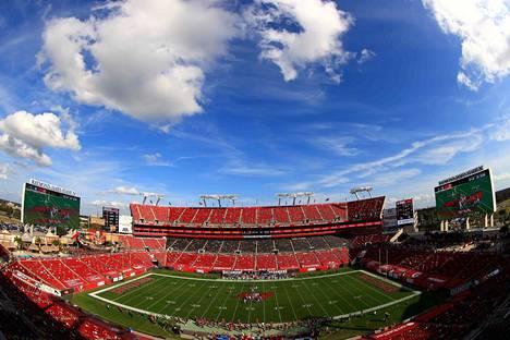 Tampa Bay Buccaneersin kotistadion isännöi NFL-liigan loppuottelua Super Bowlia helmikuun alussa.