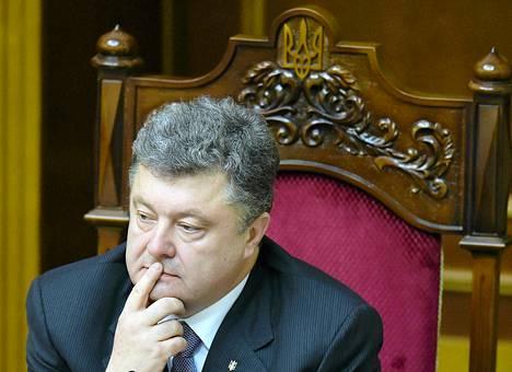 Ukrainan presidentti Petro Porošenko.
