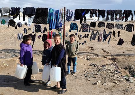 Al-Holin leirin lasten kuolemien taustalla ovat ongelmat leirin terveys- ja ravitsemuspalveluissa. Kuva on otettu tammikuussa.