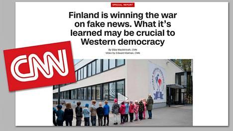 Kuvakaappaus CNN:n internet-sivulta löytyvästä Suomi-reportaasista.