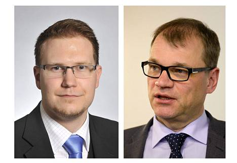 Olli Immonen (vas.) ja Juha Sipilä.
