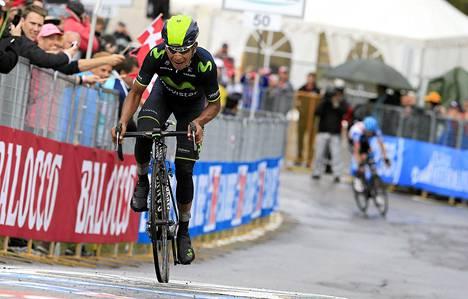 Nairo Quintana palasi vuoristosta voittajana.