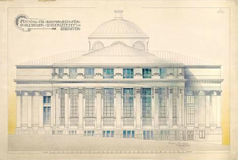 Keisarillisen Aleksanterin yliopiston kirjaston (nyk. Kansalliskirjaston) laajennusosa Rotunda valmistui vuonna 1900.