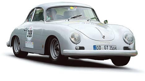 1959. Urheiluauto 1950-luvun malliin. Porsche 356B:ssä on kaksilitrainen moottori (130 hv).