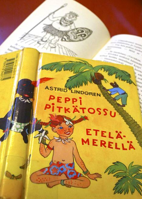 """Rasismikysymys on noussut esiin myös Peppi Pitkätossu Etelämerellä -kirjan yhteydessä. Peppi matkustaa kirjassa isänsä hallinnoimalle alkuasukkaiden saarelle. Alun perin saaren asukkaista käytettiin n-sanaa, joka on myöhemmissä painoksissa korjattu poliittisesti korrektimpaan muotoon, suomessa termiksi """"alkuasukas""""."""