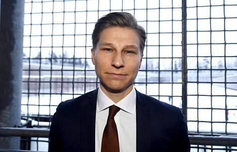 Oikeusministeri Antti Häkkänen (kok) oikeusministeriön ja Rikosseuraamuslaitoksen Rikos ja Rangaistus -päivässä Vantaan vankilassa tiistaina.