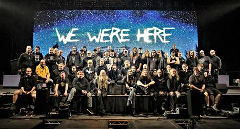 Nightwish's tour staff typically includes about fifty employees.