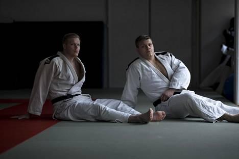 Martti Puumalainen (oik.) harjoittelee edelleen myös veljensä Juhon kanssa. Kuva vuodelta 2019.
