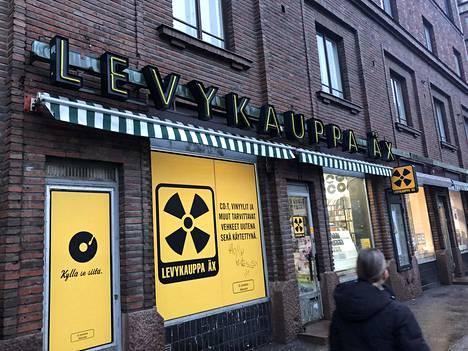 Levykauppa Äxän yksi myymälöistä sijaitsee Helsingin Fredrikinkadulla.