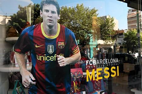 FC Barcelonan tähtihyökkääjä Lionel Messi toimii Unicefin hyvän tahdon lähettiläänä.