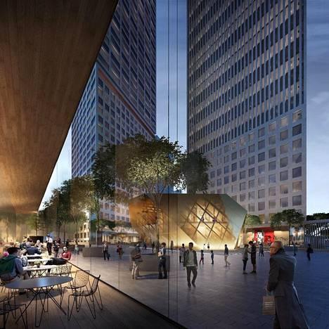 YIT on esittänyt muutoksia esimerkiksi siihen, miten tornitalojen liiketilat avautuvat Pasilansillalle ja miten Pasilankadulta tullaan rakennuksiin.