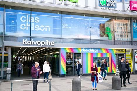 Kauppaketju Clas Ohlsonin Kaivotalon-myymälä Helsingissä vuonna 2018.