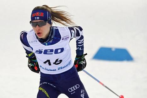 Eveliina Piippo hiihti toiseksi Lahdessa.