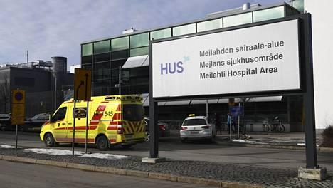 Husin Meilahden sairaala-alue Helsingissä 3. maaliskuuta 2021.