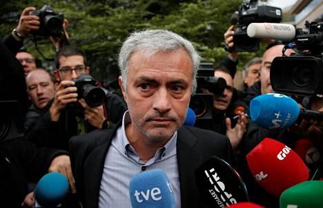 José Mourinho oli kuultavana perjantaina Espanjassa verovilppisyytösten takia.