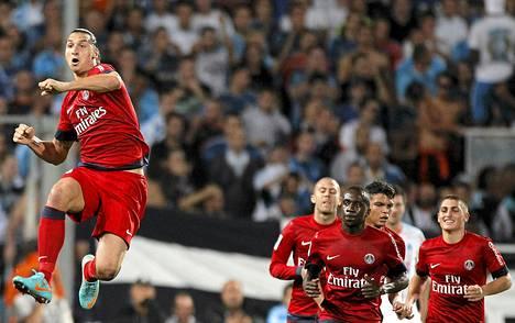 Zlatan Ibrahimovic on hurjassa iskussa.