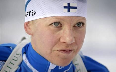 Kaisa Mäkäräinen on jo tutun kovassa hiihtokunnossa.