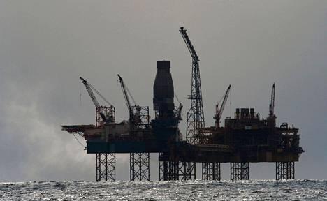 Öljynporauslautta Pohjanmerellä lähellä Skotlantia.
