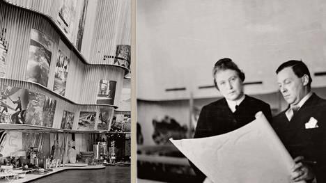 Aino ja Alvar Aalto New Yorkin maailmannäyttelyssä 1939.