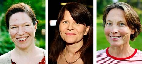 Anni Sinnemäki, Outi Alanko-Kahiluoto ja Satu Haapanen.