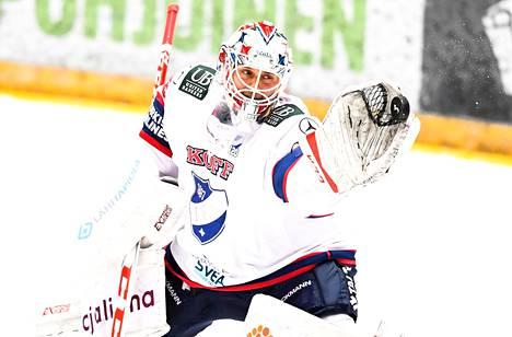 Kevin Lankinen pelasi loistavan kauden HIFK:ssa.