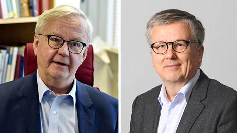 Professori Olli Mäenpää ja professori Ari Salminen.