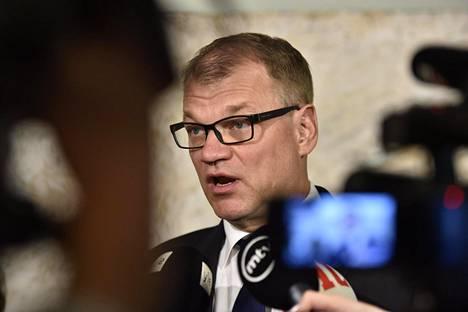 Pääministeri Juha Sipilä puhui Suomen suurlähettiläspäivillä Helsingissä maanantaina.